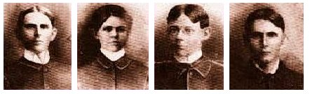 Sigma Pi Founders - George Martin Patterson, Rolin Rosco James, William Raper Kennedy, James Thompson Kingsbury